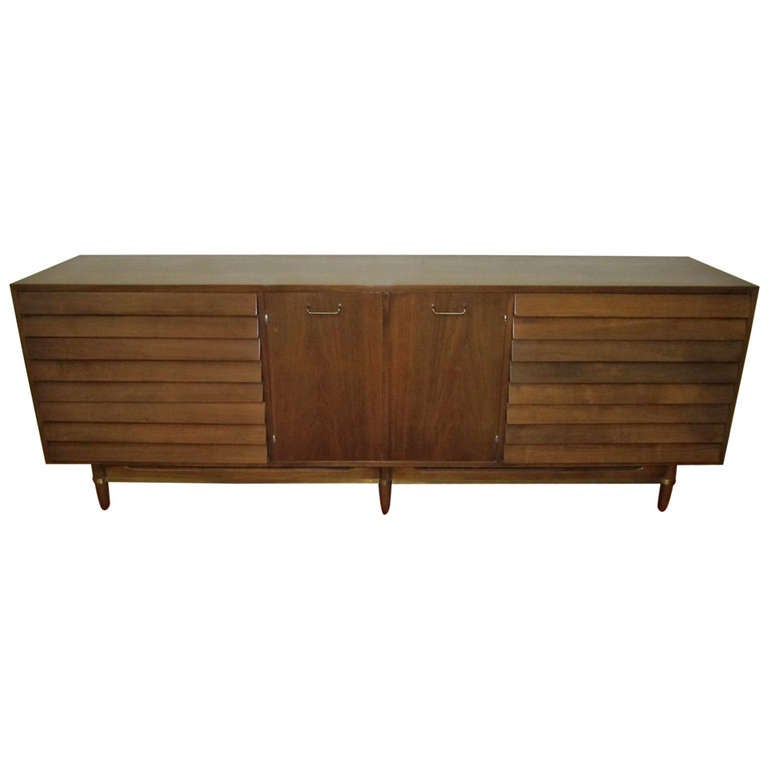 Lovely American of Martinsville Louvered Credenza Mid-century Modern