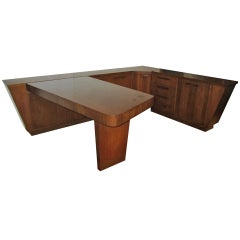 Amazing 4 Piece Gilbert Rohde style Desk Credenza Mid-century Modern