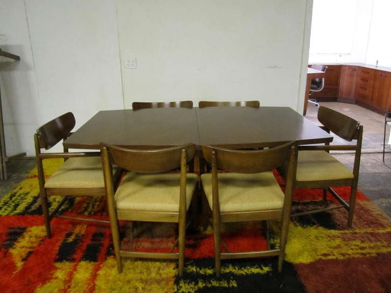 american of martinsville dining room set | Excellent Set 6 American of Martinsville Walnut Dining ...
