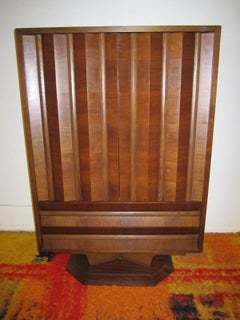 Fabulous Mid-century Modern 3 dimensional Walnut tall Dresser Danish