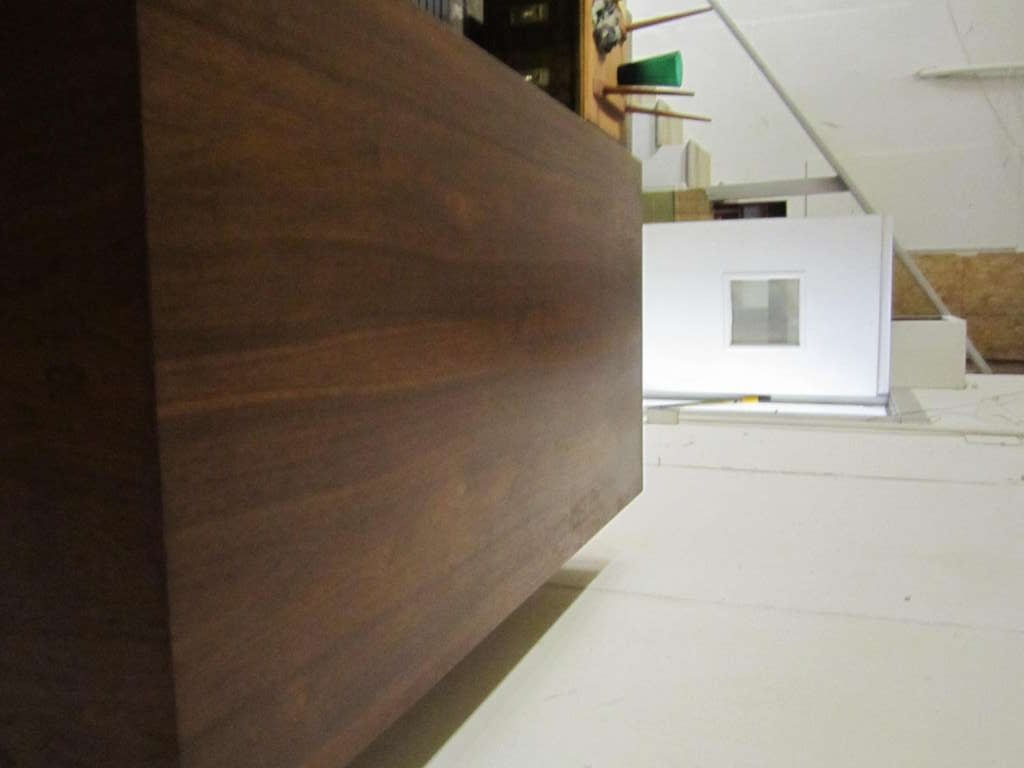 Canadian Fabulous Mid-century Modern 3 dimensional Walnut tall Dresser Danish For Sale