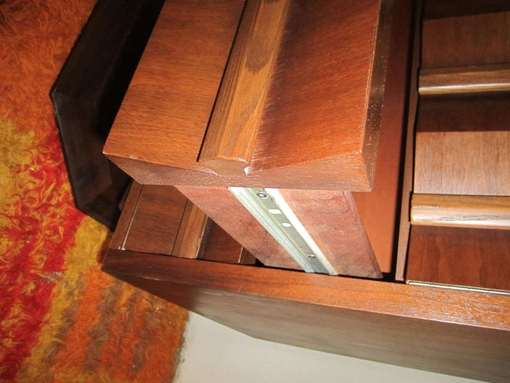 Fabulous Mid-century Modern 3 dimensional Walnut tall Dresser Danish For Sale 2