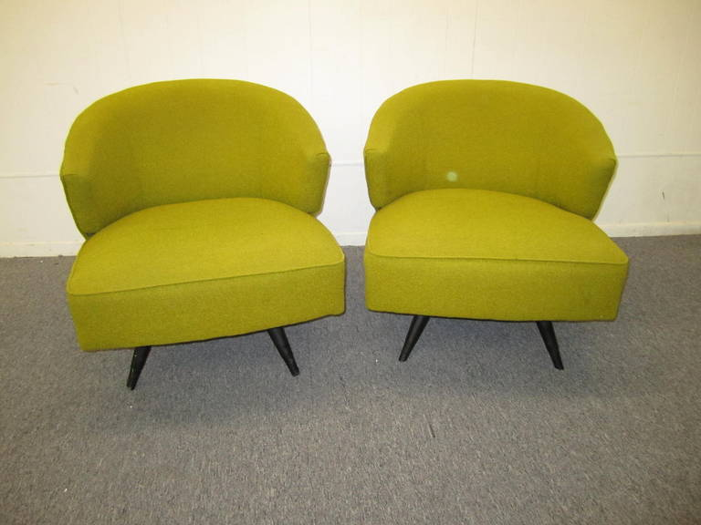 Attirant Wonderful Set Of Four Mid Century Kroehler Swivel Chairs