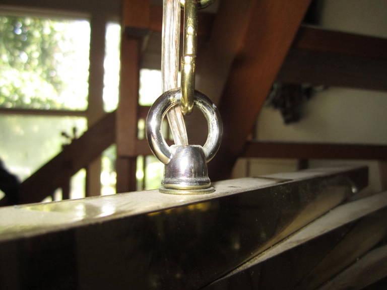 Sculptural Gaetano Sciolari Spiral Brass, Mid-Century Modern Chandelier For Sale 2