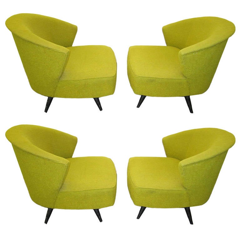 wonderful set of four mid century kroehler swivel chairs at 1stdibs