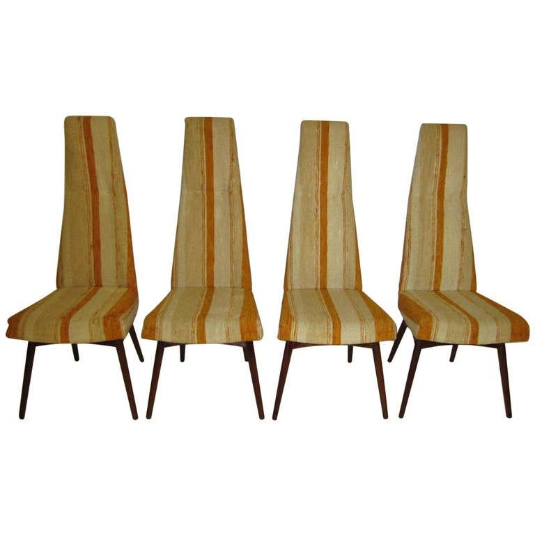 Four Adrian Pearsall High Back Dining Chairs by Craft Associates, Midcentury