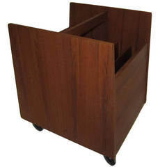 Mid-Century Magazine Rack in Teak by Bruksbo Danish Modern