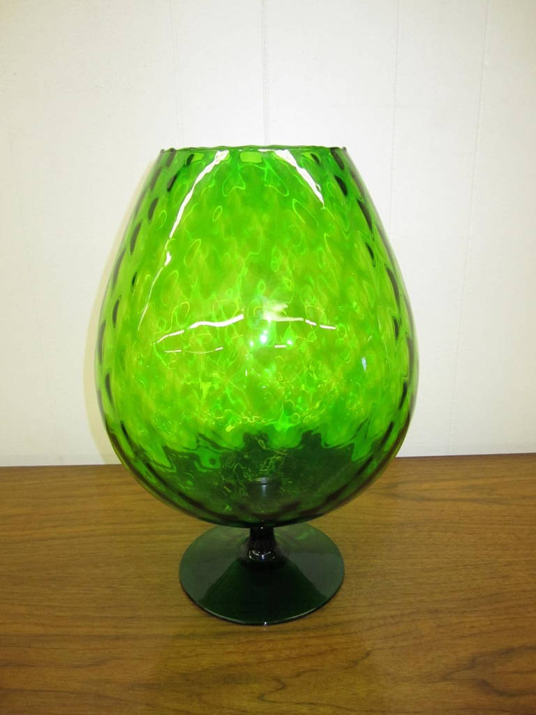 Large scale viking art green glass brandy snifter at 1stdibs wonderful oversized viking art glass brandy snifter you will love the big impact this piece reviewsmspy