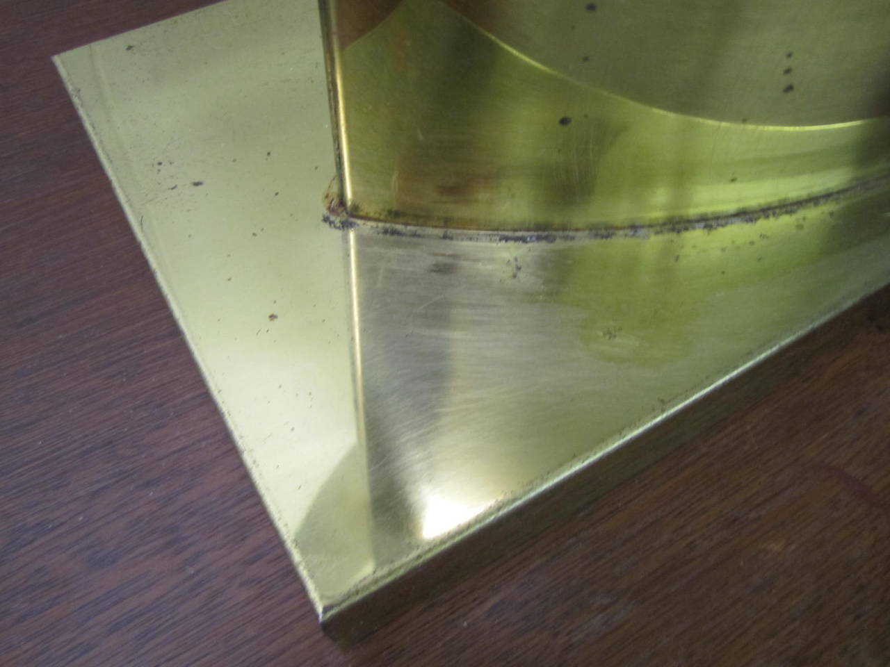 Plated Lovely Large-Scale Sculptural Signed Curtis Jere Brass Lamp, Mid-Century Modern For Sale