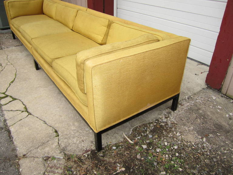 American Fabulous 2-Piece Edward Wormley Dunbar Long Low Mid-Century Sofa For Sale