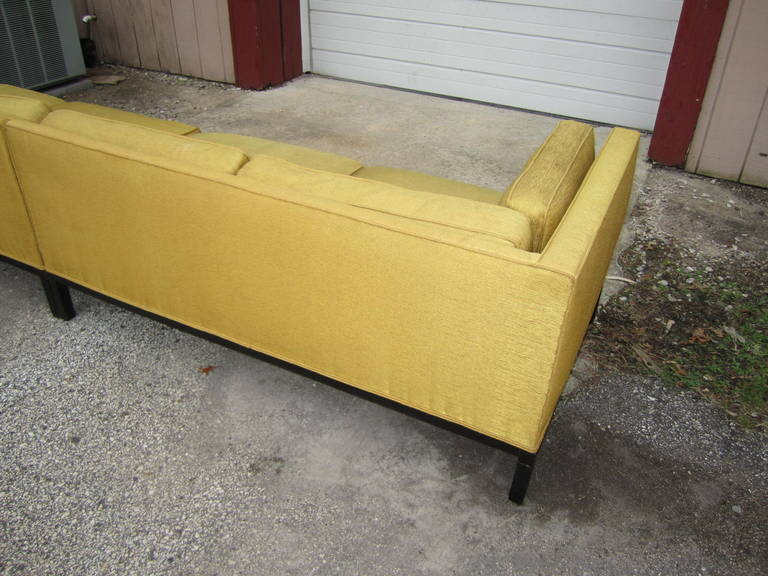 Fabulous 2-Piece Edward Wormley Dunbar Long Low Mid-Century Sofa For Sale 2