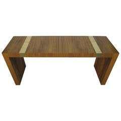 Outstanding Milo Baughman Rosewood and Brass Console Table Mid-century Modern