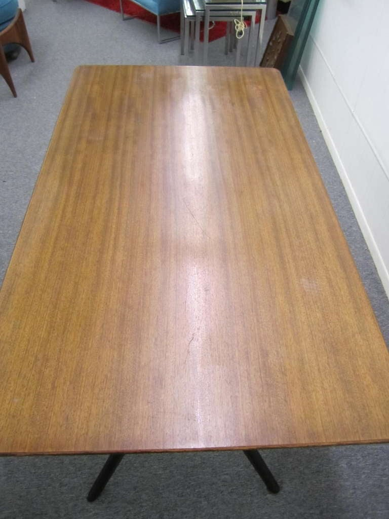 Italian Gio Ponti Style Jax Base Dining Table 6 Chairs Mid