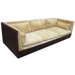 Outstanding Milo Baughman Rosewood Cased Sofa Mid-century