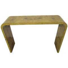 Outstanding Milo Baughman Olivewood Console Table Mid-century Modern
