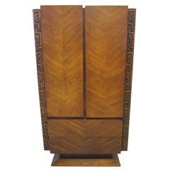 Paul Evans style Walnut Sculptural Tall Dresser Mid-century Modern
