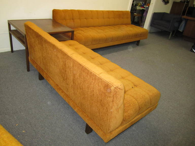 Mid-20th Century Stunning Harvey Probber style 2 Piece Sectional Sofa Mid-century Modern For Sale