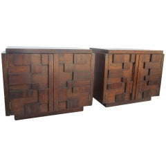 2 Paul Evans Inspired Brutalist Mosaic Night Stands From Lane