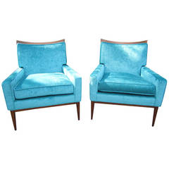 Perfect Pair of Paul McCobb for Directional Lounge Chairs, Mid-Century Modern
