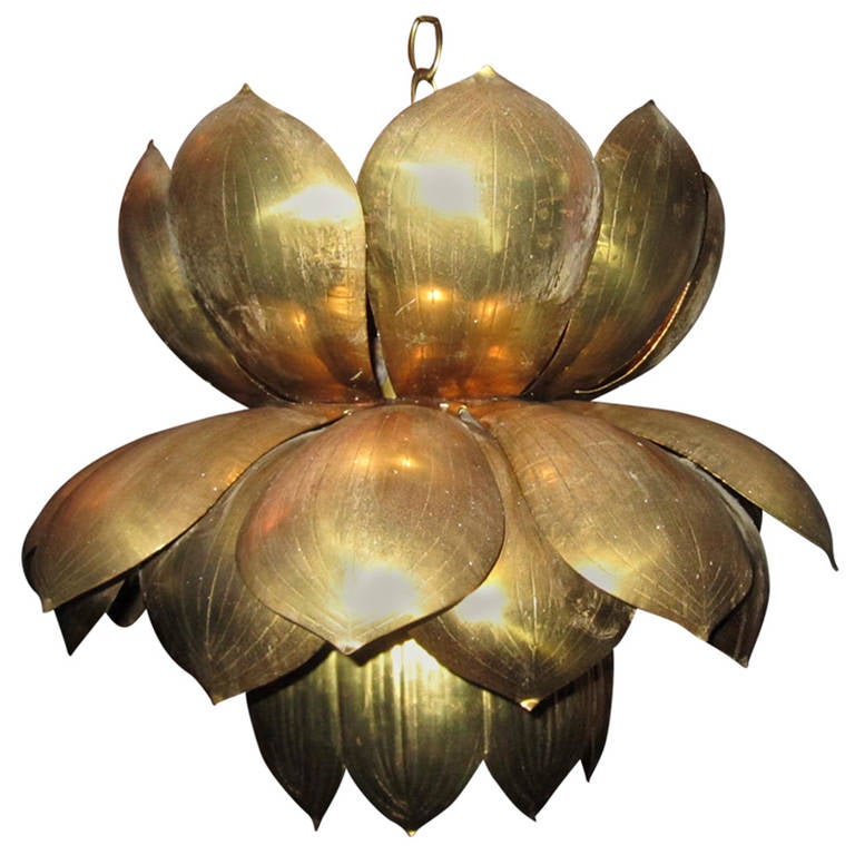 Magnificent Lotus Lamp For Feldman in the style of Parzinger