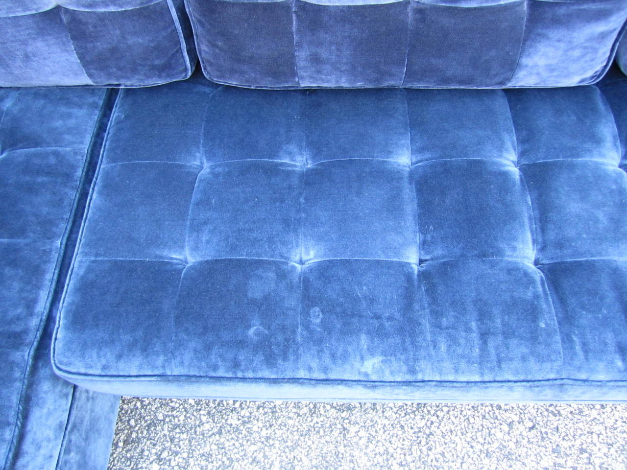 Stunning Large-Scale Harvey Probber Style Sectional Sofa, Mid-Century Modern For Sale 1