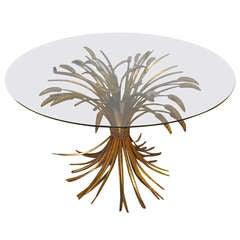 Wheat Table From Coco Chanel Hollywood Regency Modern