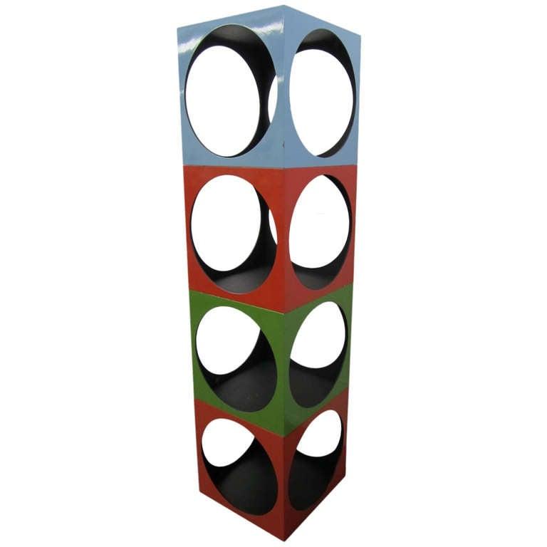Fun Panton Inspired Stacking Cube Etagere Mid-century Modern