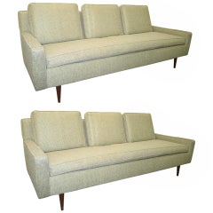 Petite Pair of Paul Mccobb style Sofas Mid-century Modern