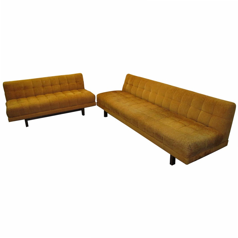 Stunning harvey probber style 2 piece sectional sofa mid for Mid century sectional sofa for sale