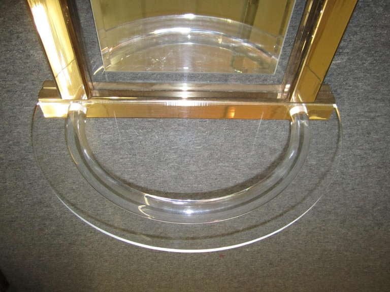 Hollywood Regency Stunning Hollywood Modern Console Mirror Lucite Hollis Jones Inspired For Sale