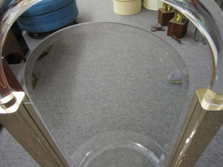 Stunning Hollywood Modern Console Mirror Lucite Hollis Jones Inspired For Sale 3