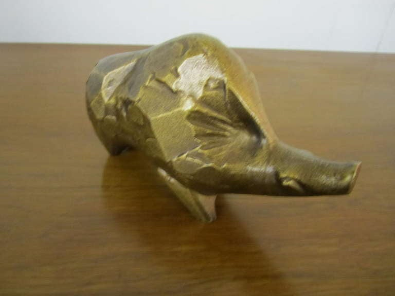 Whimsical Brutalist Style Warty the Warthog Paperweight Mid-century Modern For Sale 3