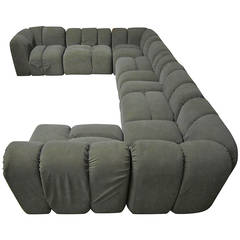 Mid-Century Modern Seven-Piece Signed Paul Evans Sectional Sofa