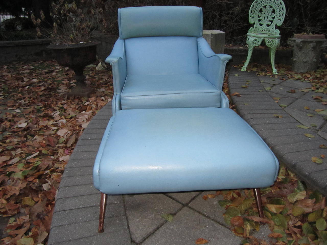 American Exciting Mid-Century Modern Lounge Chair with Ottoman For Sale