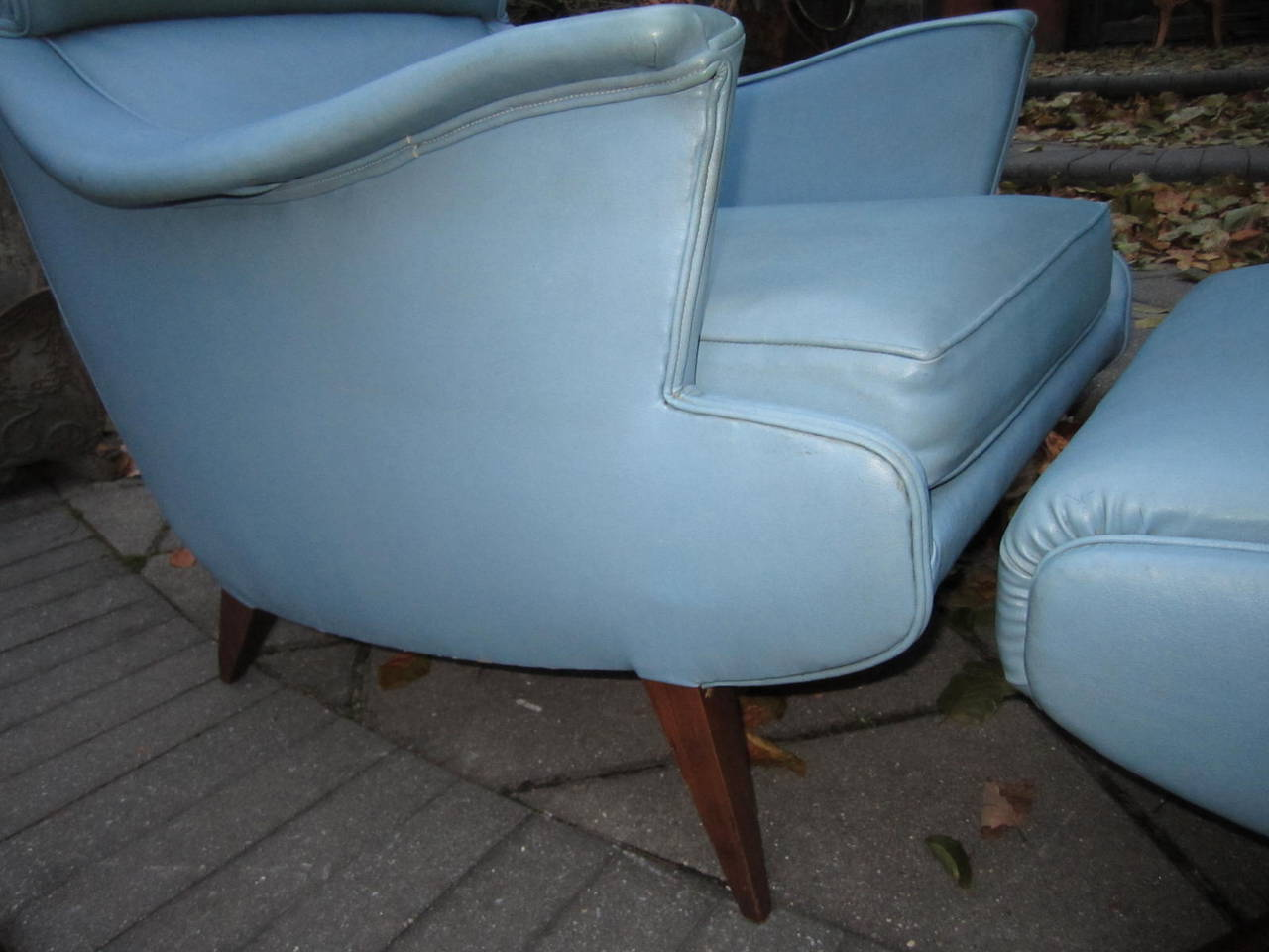 Mid-20th Century Exciting Mid-Century Modern Lounge Chair with Ottoman For Sale