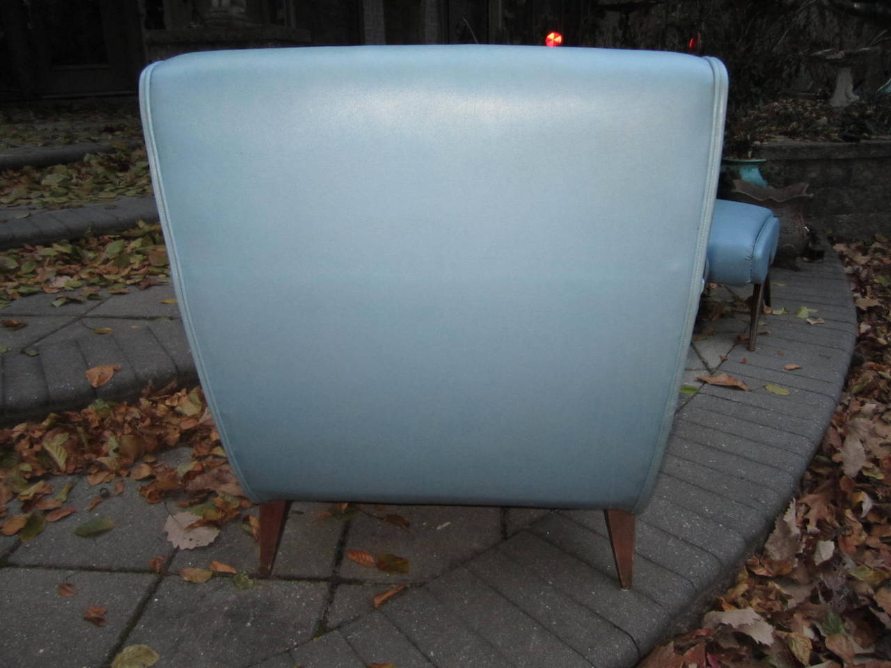 Exciting Mid-Century Modern Lounge Chair with Ottoman For Sale 2