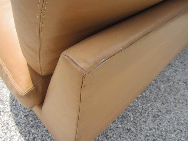 Milo Baughman Leather Four-Piece Sectional Sofa Mid-Century For Sale 3