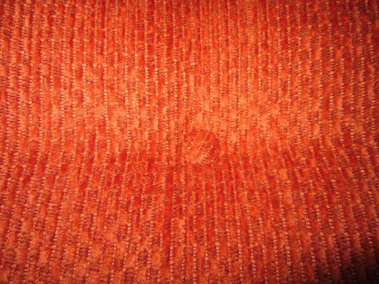 Unusual Milo Baughman Orange Chrome Lounge Chair Mid-Century Modern For Sale 2