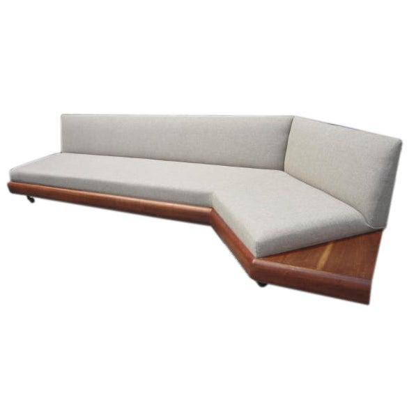 Mid Century Modern Sofas: Adrain Pearsall Walnut Boomerang Sofa Danish Mid-century