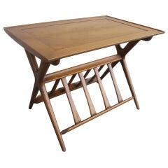 Widdicomb Style Library Side Table Magazine Rack Mid-century Modern