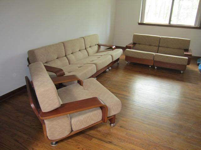 Rare N. Eilersen Danish Modern Teak Three-Seat Sofa Mid-Century For Sale 5