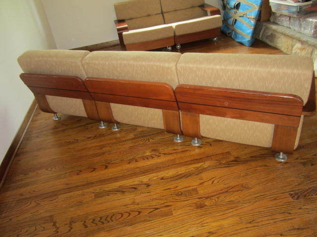 Rare N. Eilersen Danish Modern Teak Three-Seat Sofa Mid-Century In Good Condition For Sale In Pemberton, NJ