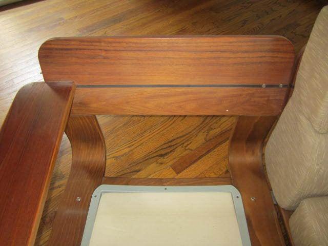 Rare N. Eilersen Danish Modern Teak Three-Seat Sofa Mid-Century For Sale 2