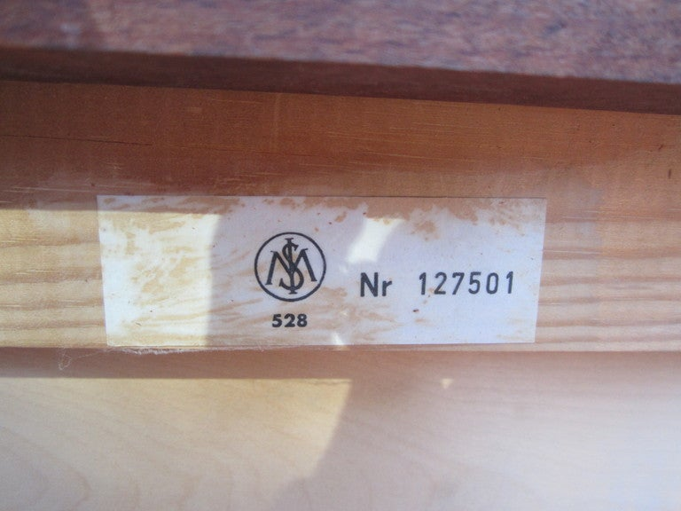 Danish Rosewood Roll Top Desk Signed Mid-century Modern For Sale 2