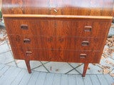 Danish Rosewood Roll Top Desk Signed Mid-century Modern image 2