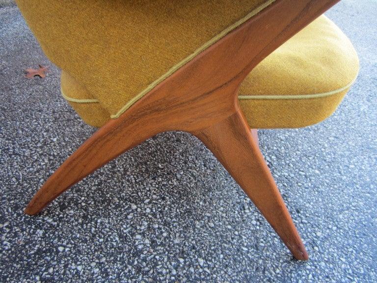 Mid-Century Modern Pair Danish Modern Papa Bear Style Teak Lounge Chairs