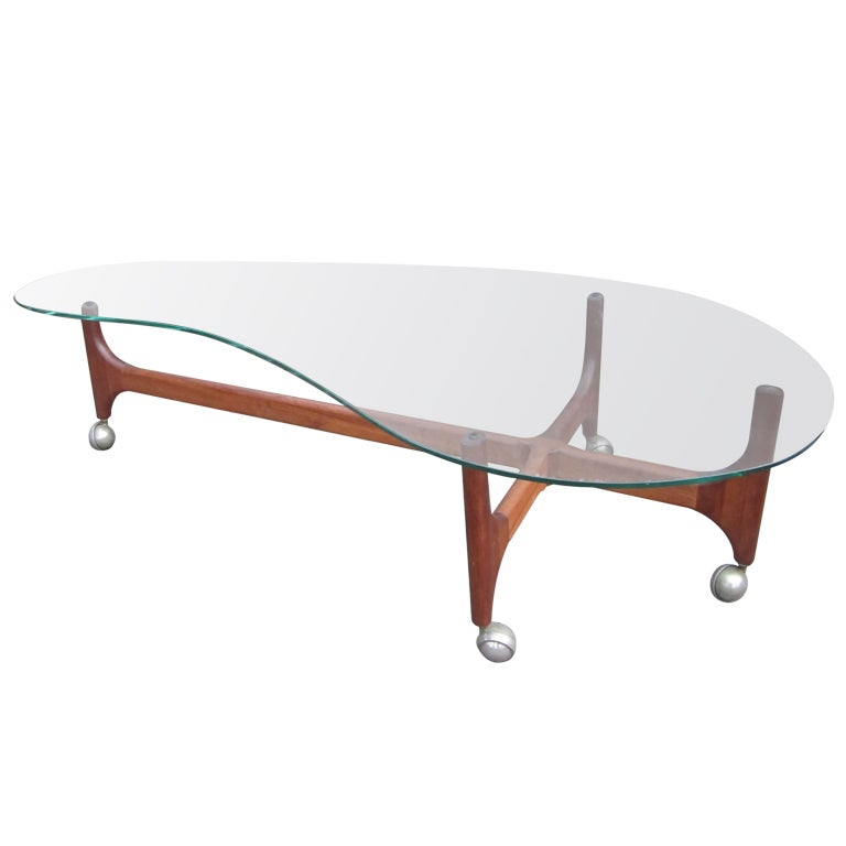 Lane Pearsall Coffee Table: Rare Adrian Pearsall Sculptural Walnut Coffee Table Mid
