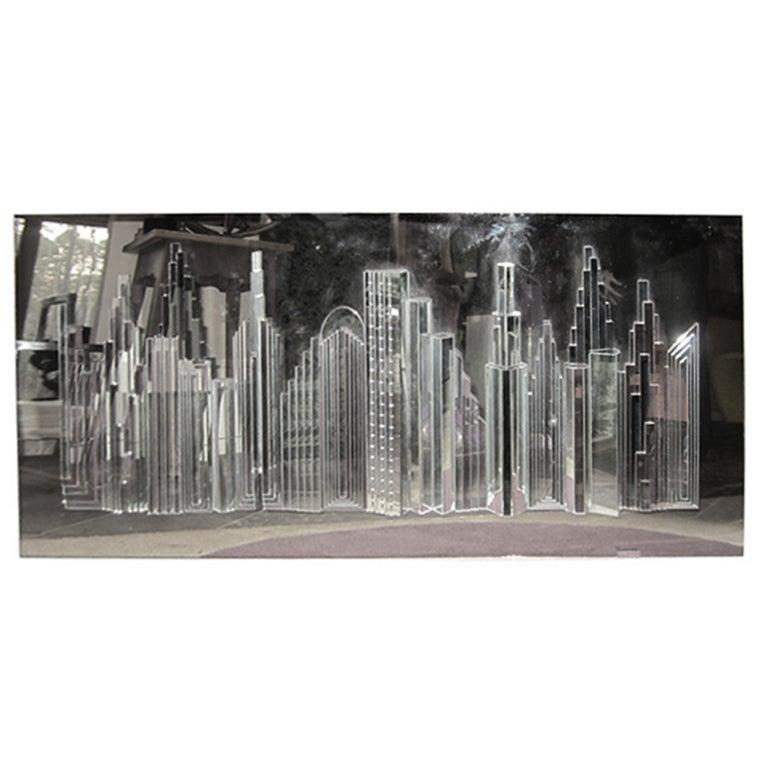 Fabulous Harvard Reflections Mirror 3d Sculpture Of New