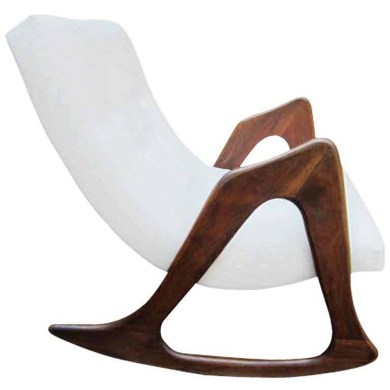 fabulous adrian pearsall sculptural walnut rocker mid century at 1stdibs. Black Bedroom Furniture Sets. Home Design Ideas