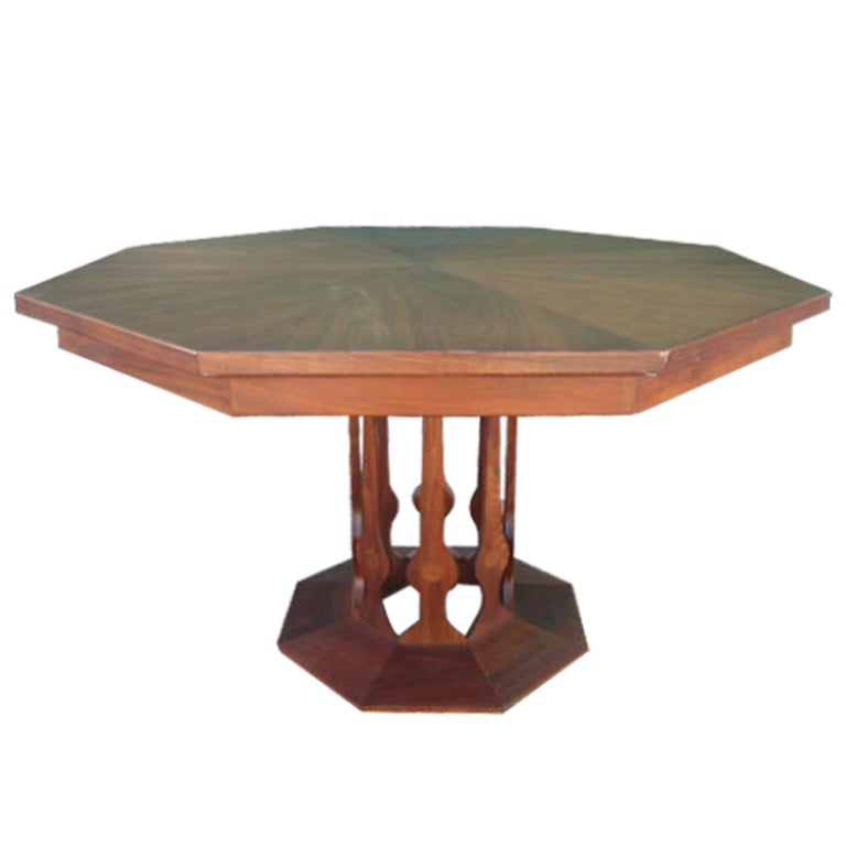 probber style walnut octagon extension table 3 leaves at